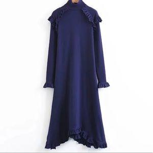 Blue slim dress